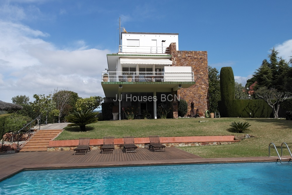 Arenys de Mar , Torre con jardín,piscina,vistas mar
